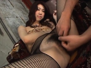 Busty japanese milf in stockings pounded hard