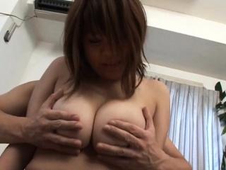 Subtitled BBW tan Japanese amateur chunky breasts fondling