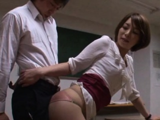 Low-spirited teacher gets licked, gives handjob and rides schlong