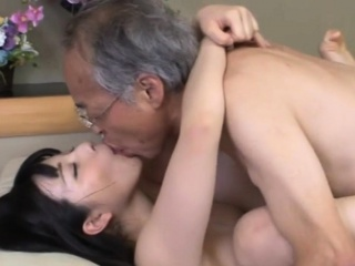 Jav Idol Ai Uehara Fucks Elderly Duffer On The Sofa