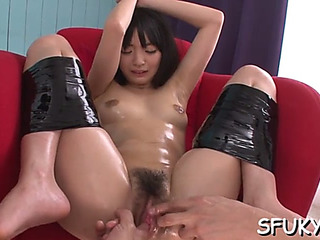Foot fetish oriental twat torcher
