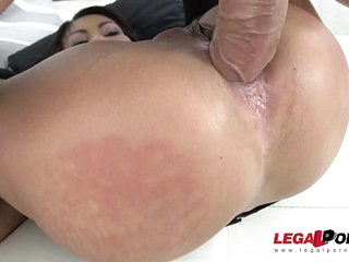 Asian MILF whore Suzie Q fisting and double anal joyride