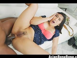 Big Black Dick All Up Inside Tight Mia Li Asian Ass
