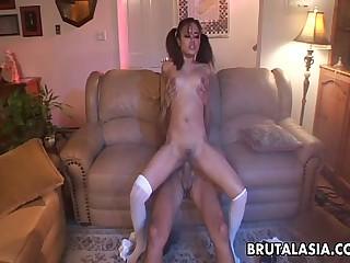 Big ass Asian babe has a hot anal fuck