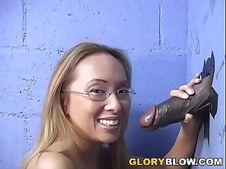 Petite Asian Bamboo Deepthroats Black Dick - Gloryhole